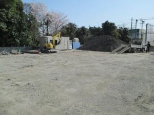基礎掘削 (2)